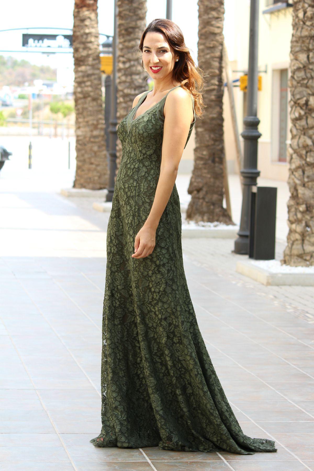 Vestido verde purificacion garcia