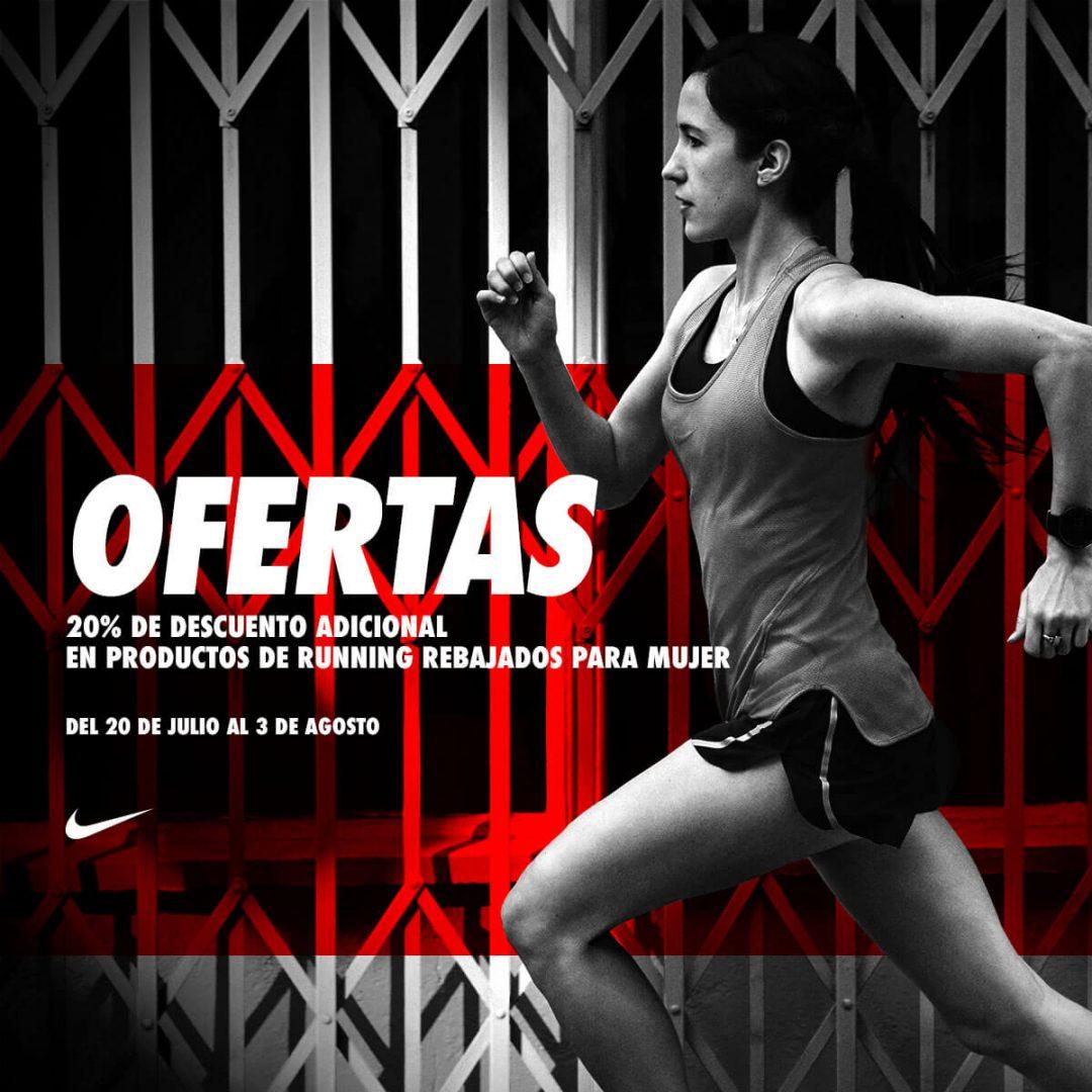 Promocion especial outlet Nike Factory de la noria con 20% descuento running mujer