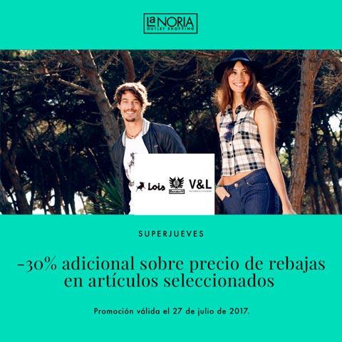Promocion superjueves outlet lois bendorf con 30% adicional sobre precio rebajas