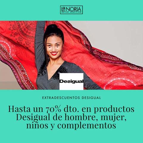Super promocion de EXTRADESCUENTOS de hasta un 70% de descuento en productos Desigual