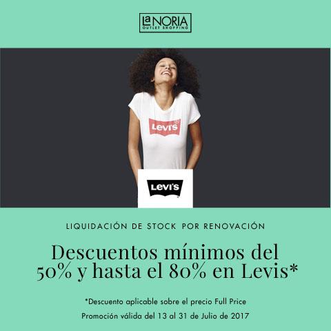 Super promocion en el outlet de Levis por liquidación de stock y renovación! Descuentos del 50% hasta el 80%