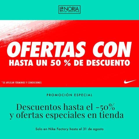 Promocion outlet Nike Factory la noria con descuentos de hasta el 50% y ofertas especiales