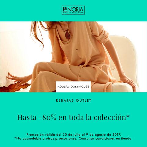 Promocion outlet Adolfo Dominguez La Noria con descuentos hasta 80%