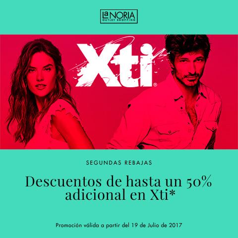 Promocion de rebajas Xti de la noria outlet con un 50% de descuento adicional