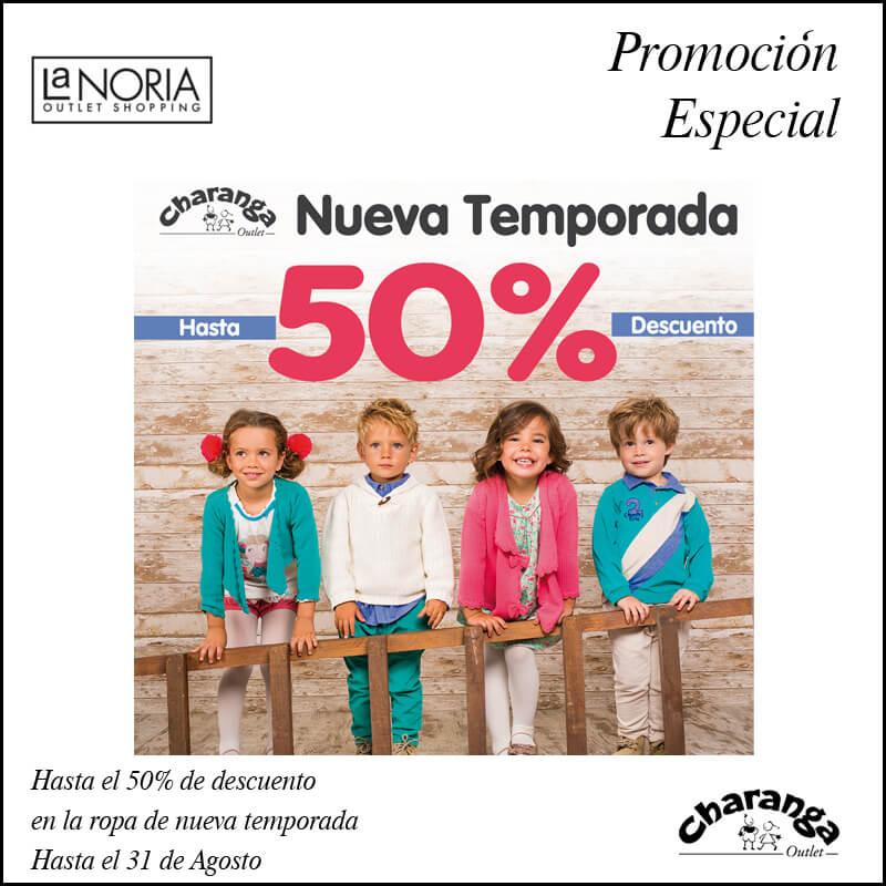 Promo ropa de nueva temporada en el outlet murcia de Charanga hasta el 31 de agosto La Noria