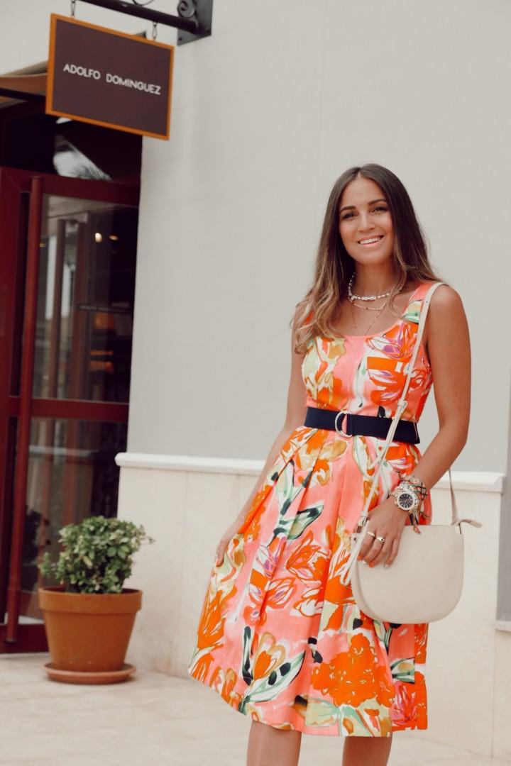 Vestido multicolor de Adolfo Domínguez