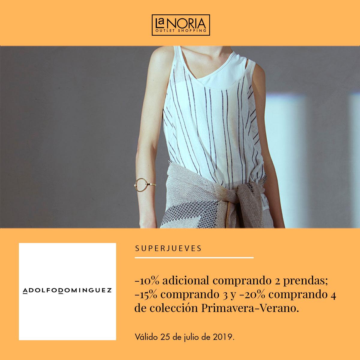 Promo Superjueves Adolfo Domínguez