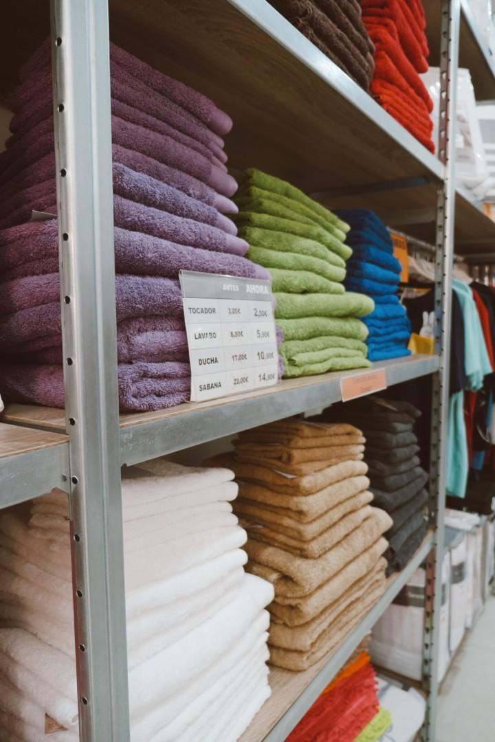 Una amplía variedad de toallas para el hogar