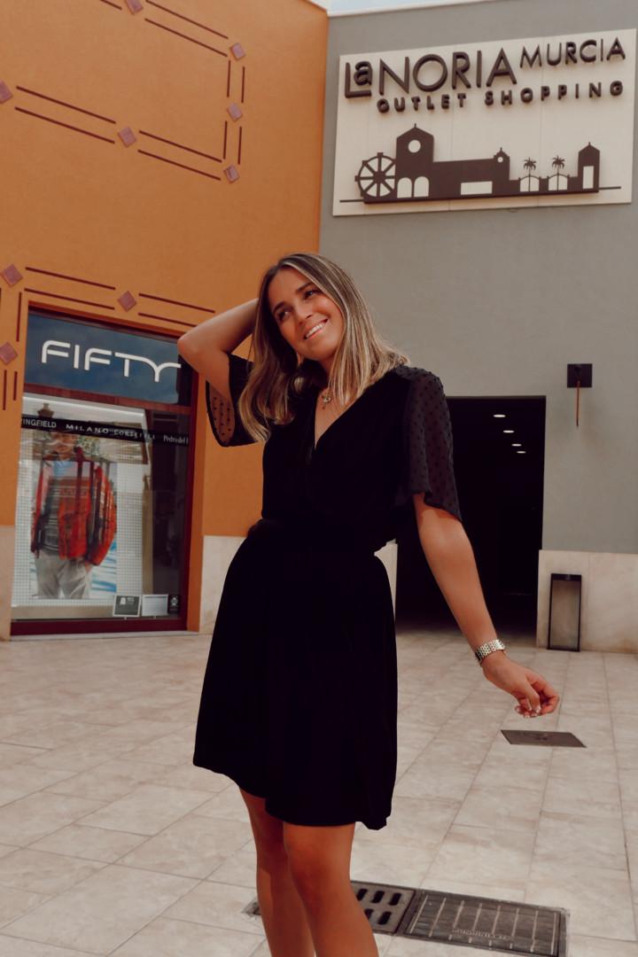 Vestido de tejido terciopelo en Fifty Factory