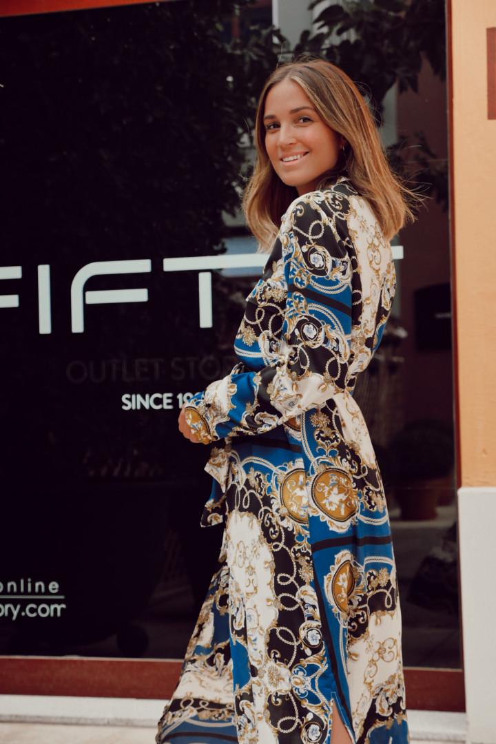 Vestido maxi con cadenas en Fifty Factory