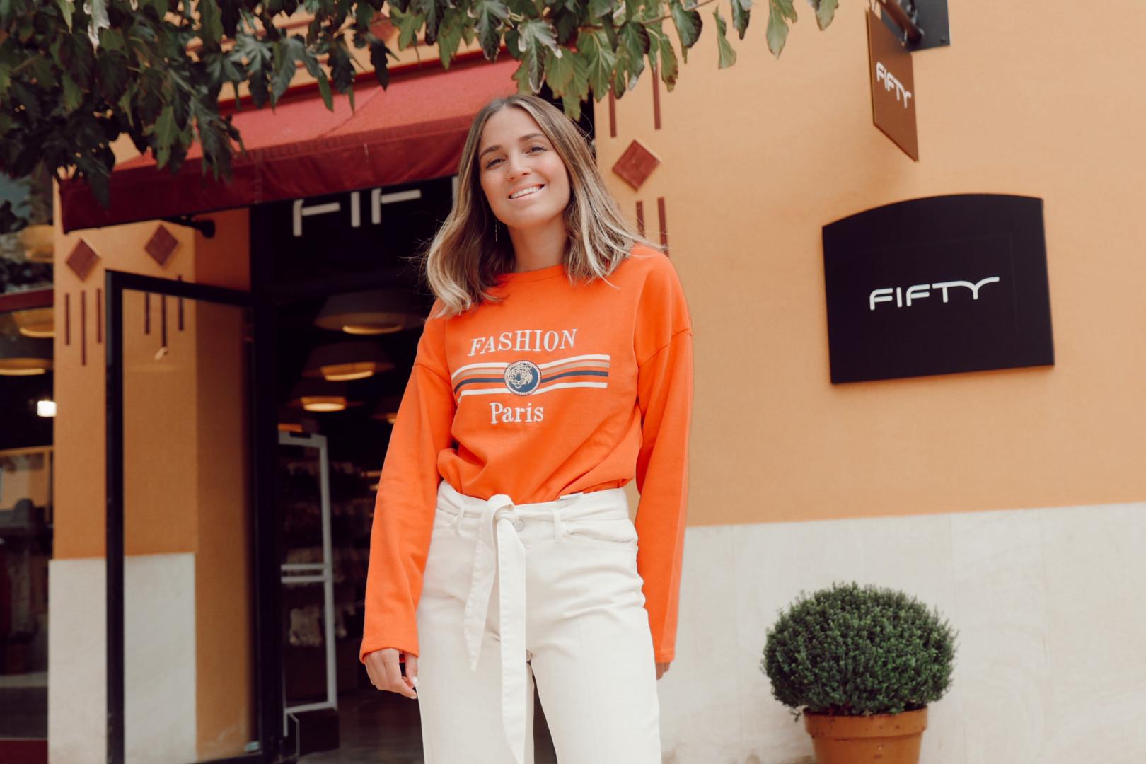 Sudadera color naranja en Fifty Factory
