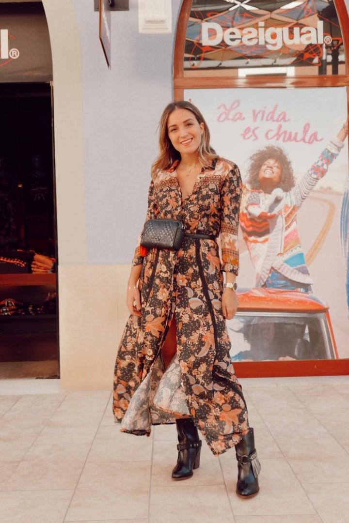 Vestido de Desigual estampado en La Noria Outlet